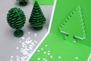 DIY.Christmas pixel popup cards 15 - christmas