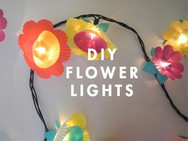 DIY ไฟประดับ..ช่อดอกไม้จากถ้วยคัพเค้ก 13 - DIY