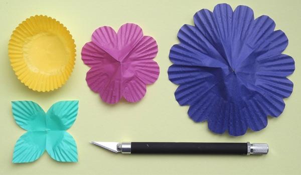 25551208 085513 DIY ไฟประดับ..ช่อดอกไม้จากถ้วยคัพเค้ก
