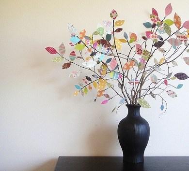 DIY ต้นไม้จากเศษกระดาษห่อของขวัญ 16 - DIY
