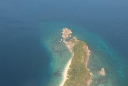 ภาพมุมสูงก่อนเครื่องลงจอด photo by OieWong