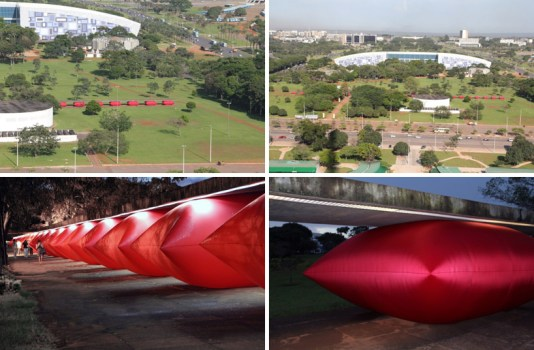 zamproni04 534x350 Giant inflated pillows by geraldo zamproni หมอนรองยักษ์