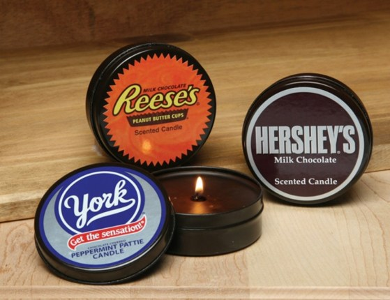 HersheyTinCandles HERSHEYS Licensed Candles เทียนอโรม่ากลิ่นช็อตโกแลตตระกูล HERSHEYS