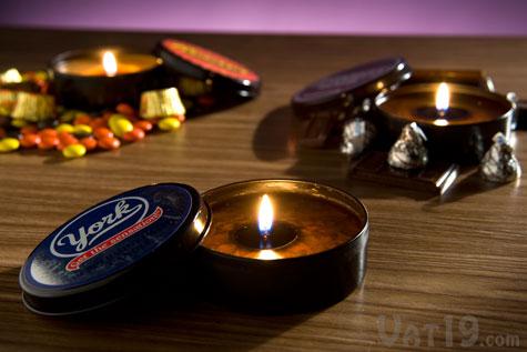 classic candy mini tin candles table HERSHEYS Licensed Candles เทียนอโรม่ากลิ่นช็อตโกแลตตระกูล HERSHEYS