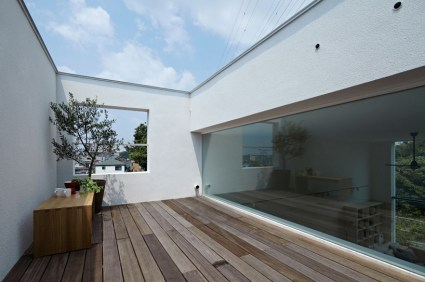 hiyoshi 09 425x282 The rectangular house from Enjoy and Architecture
