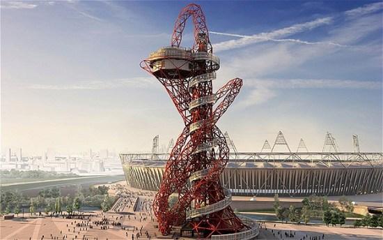 orbit 2039842b 550x344 Arcelormittal orbit tower หอคอยแห่งโอลิมปิค Olympic Park กรุงดอนลอน ประเทศอังกฤษ