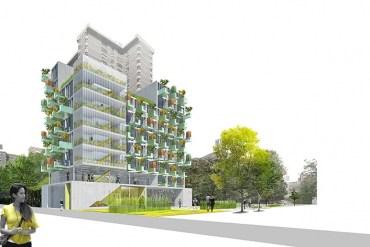 MicroGreens! อพาร์ตเม้นต์ขนาดเล็กที่ทุกยูนิตมีสวนผักบนระเบียง ในนิวยอร์ค 13 - vertical garden