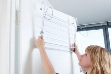 ราวตากผ้า พกพาสะดวก บางเฉียบสำหรับบ้านพื้นที่จำกัด 2 - drying rack