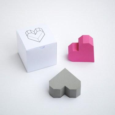 3d heart 3 375x375 Geometric heart Valentines box