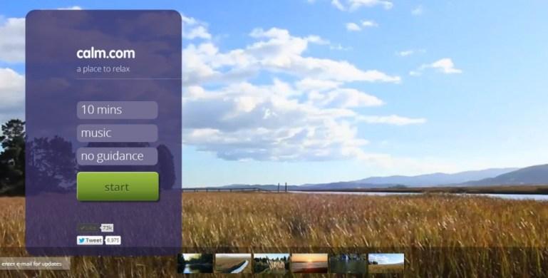 ผ่อนคลายหน้าคอมด้วยเสียงธรรมชาติกับเว็บ Calm.com 13 - Green