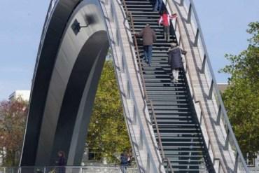 Melkweg Bridge by NEXT Architects สะพานที่สร้างความสุนทรีย์แก่ผู้สัญจรทางเท้า และจักรยาน 13 - bridge