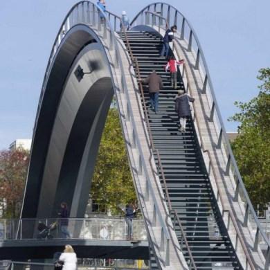 Melkweg Bridge by NEXT Architects สะพานที่สร้างความสุนทรีย์แก่ผู้สัญจรทางเท้า และจักรยาน 33 - Architecture
