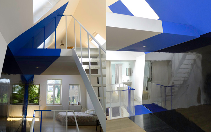 Transforming a laundry by Alain Hinant 6 เปลี่ยนอาคารซักรีด..ให้กลายเป็นบ้านน่าอยู่ของศิลปิน