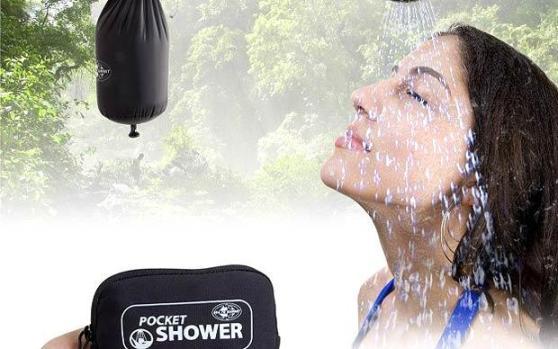 p pocket shower 1673515i Pocket Shower ที่ฝักบัวอาบน้ำแบบพกติดตัว