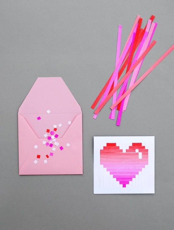 woven heart 2 DIY.Woven heart,My Valentines card