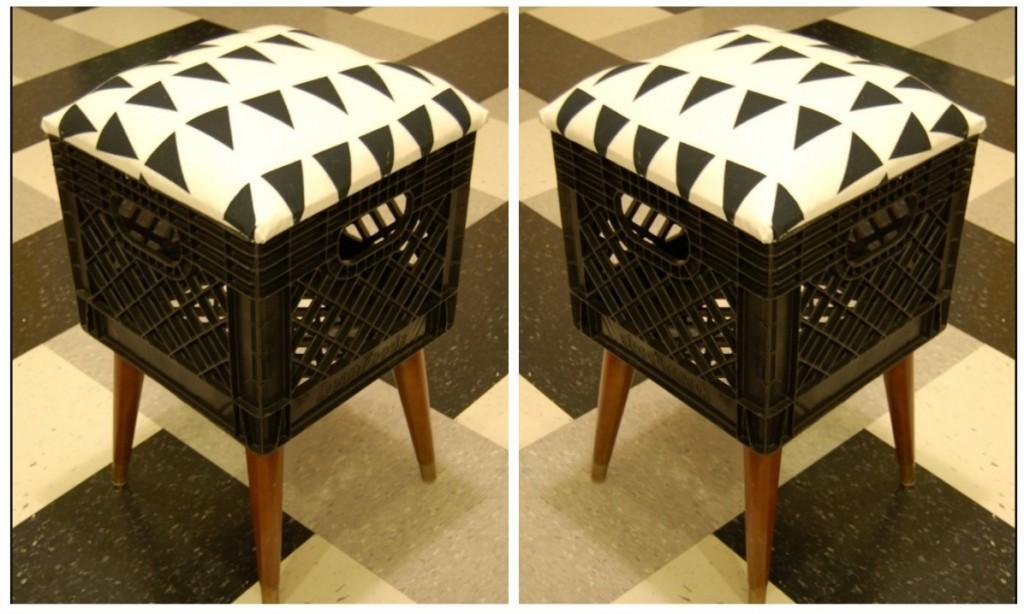 25560303 172802 DIY..เก้าอี้จากลังพลาสติกใช้แล้ว