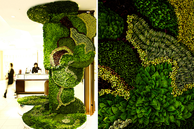 Art of Plants For Isetan Japan Department Store 8 สวนแนวตั้ง ART OF PLANTS ในห้าง ISETAN ที่ญี่ปุ่น