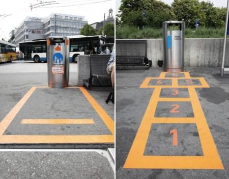 Lucerne trash games 450x351 Lucerne Shines ไอเดียส่งเสริมให้คนในเมืองเห็นว่า การทิ้งขยะ เป็นเรื่องง่ายๆ