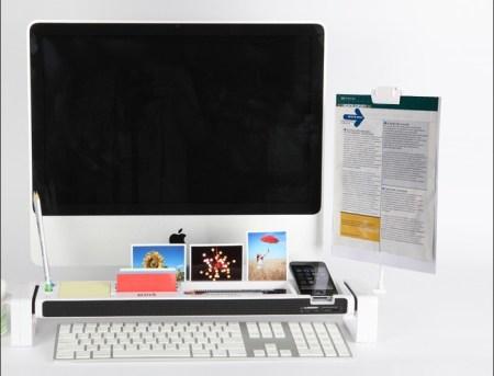 05137053j 450x343 จัดระเบียบแบบเต็มรูปแบบบนโต๊ะทำงาน ด้วย iStick Desk Organizer with USB Hub and Card Reader