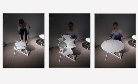 06 colog gf220110 450x275 Folding Table is Inspired By Pop Up Map Grand Central โต๊ะพับได้ตามรูปแบบของการพับแผนที่ป๊อปอัพ