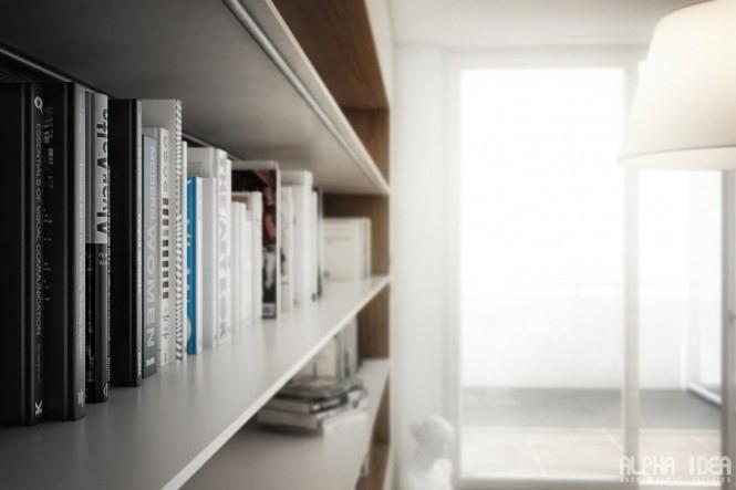 25560413 085629 บ้านที่มีสวนกลางบ้าน ล้อมรอบด้วยหนังสือ..ในบรรยากาศสงบและผ่อนคลาย