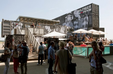 3 pool party hilfiger denim bread and butter summer 2011 container building wall berlin containerbuilding model