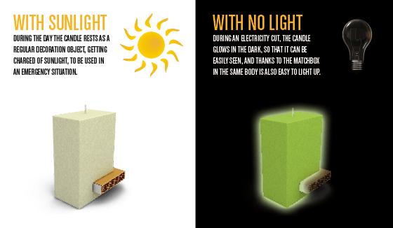 74cb75abb11e4071c3b95fe9aba57ea2 Blackout เทียนเรืองแสง มีที่เก็บกล่องไม้ขีดในตัว..ไอเดียฉลาดๆรับมือไฟดับ ฉุกเฉิน