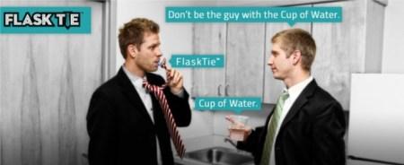 Flasktie f21 450x184 ดื่มได้ทุกที่ถ้าใช้เนคไท THE FLASK TIE