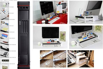 """จัดระเบียบแบบเต็มรูปแบบบนโต๊ะทำงาน ด้วย """"iStick Desk Organizer with USB Hub and Card Reader""""  2 - iStick Desk Organizer with USB Hub and Card Reader"""