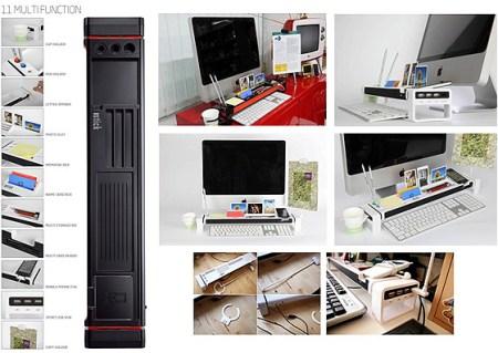I Stick 1 img 450x319 จัดระเบียบแบบเต็มรูปแบบบนโต๊ะทำงาน ด้วย iStick Desk Organizer with USB Hub and Card Reader