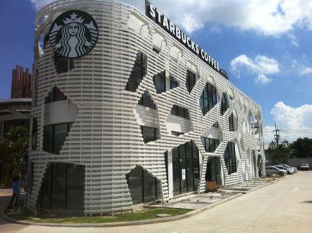 Starbucks Drive Thru Porto Chino3 450x336 Starbucks สาขา Porto Chino พระราม2..แนวคิดร้านกาแฟสีเขียว แห่งแรกในเอเซีย