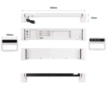 istick desk organizer with usb hub and card reader 3 450x375 จัดระเบียบแบบเต็มรูปแบบบนโต๊ะทำงาน ด้วย iStick Desk Organizer with USB Hub and Card Reader