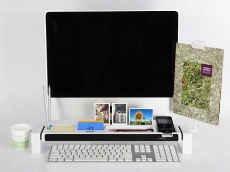 istick desk organizer with usb hub and card reader 4 450x337 จัดระเบียบแบบเต็มรูปแบบบนโต๊ะทำงาน ด้วย iStick Desk Organizer with USB Hub and Card Reader