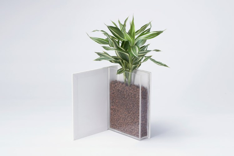 Book planter นี่หนังสือ หรือ กระถางต้นไม้ ดีไซน์การปลูกต้นไม้จาก YOY studio, Japan 15 - book