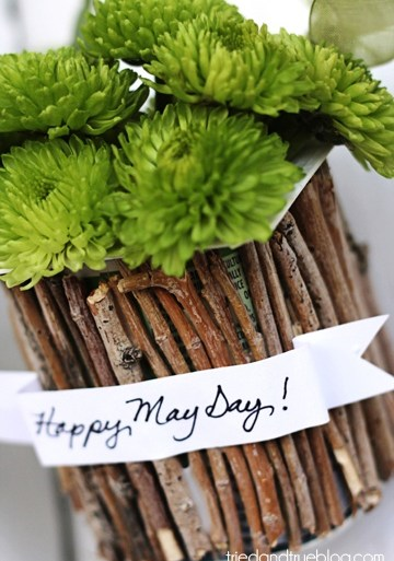 DIY..Recycled May Day Baskets 21 - Gift