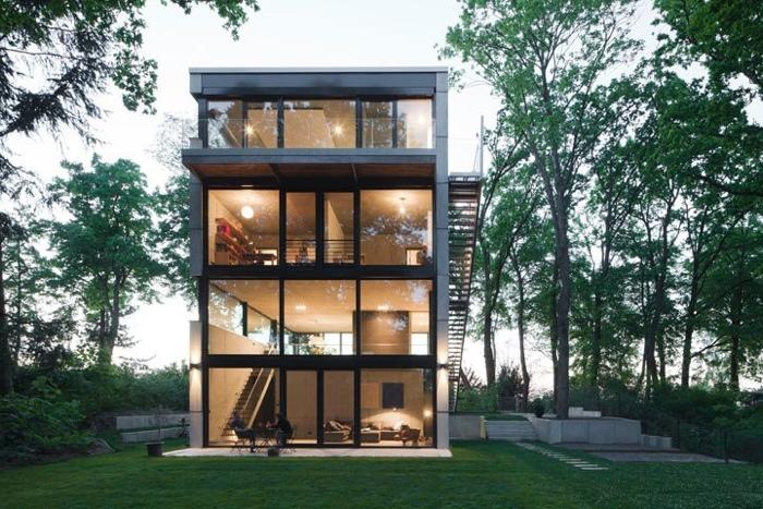 25560503 170153 Modern House..เชื่อมต่อภายนอกและภายในด้วย..คอนกรีต กระจกใส ไม้ และหิน