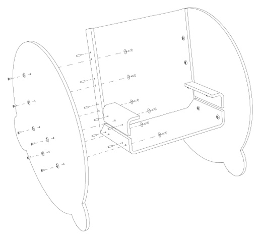 25560509 063932 KAARLO I and II เก้าอี้โยก ถอดประกอบได้ ง่ายๆ ด้วยวัสดุไม่กี่ชิ้น