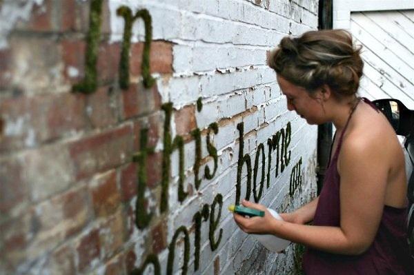 Moss graffiti ศิลปะตกแต่งกำแพงแบบใกล้ชิดธรรมชาติ 13 - Art & Design