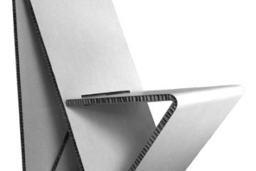 Vouwwow..เก้าอี้ที่พับได้ง่ายๆจากกระดาษ 1 แผ่น  8 - minimalist