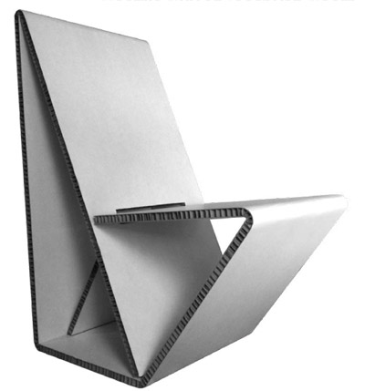 Vouwwow..เก้าอี้ที่พับได้ง่ายๆจากกระดาษ 1 แผ่น  21 - minimalist