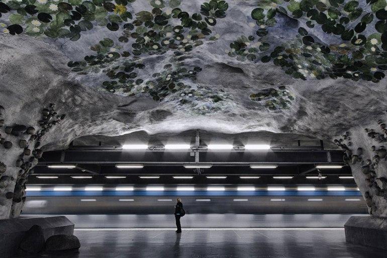 """""""world's longest art exhibition"""" @สต็อกโฮล์ม สถานีรถไฟใต้ดินที่ได้ชื่อว่า เป็นแกลเลอรี่ศิลปะที่ยาวที่สุดในโลก  13 - world's longest art exhibition"""