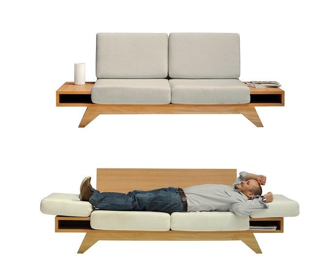 25560602 163506 Modern Sofa ..เหมาะกับบ้านสมัยใหม๋ โต๊ะข้างช่วยเพิ่มพื้นที่กลายเป็นที่นอน