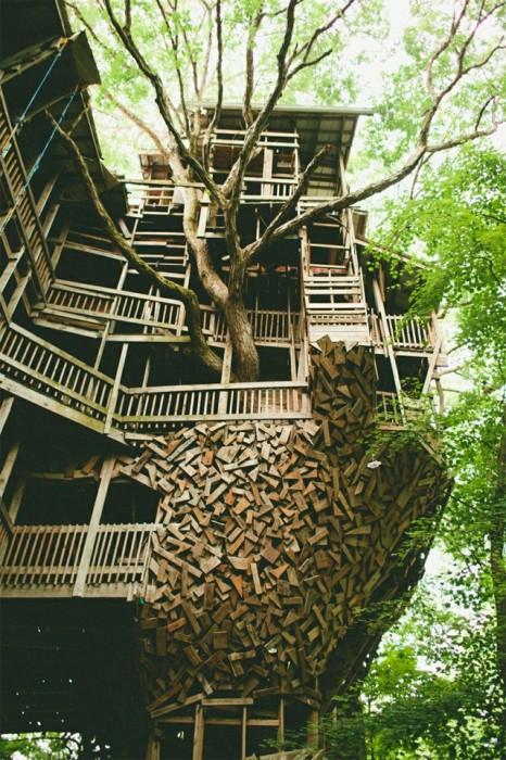 25560614 225514 บ้านต้นไม้จากไม้เก่า ใช้เวลาสร้างกว่า 11 ปี แบบไม่ต้องมีพิมพ์เขียว โดยพระที่เป็น Landscape Architect