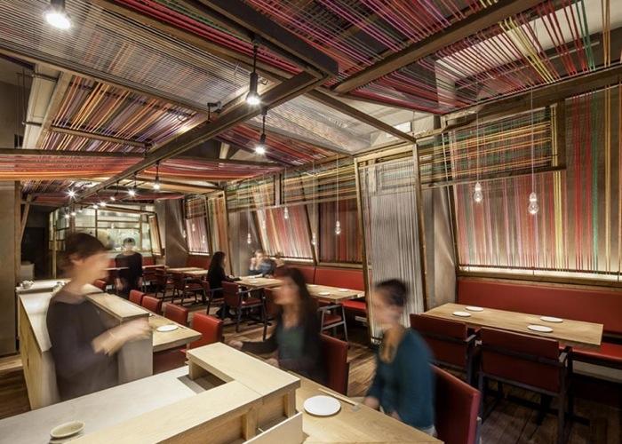 25560620 183817 Peru Pakta  ร้านอาหารที่รวม 2 วัฒนธรรมเข้าเป็น 1..เมื่อหูกทอผ้าดั้งเดิมของเปรูหุ้มห่อเฟอร์นิเจอร์สไตล์ญี่ปุ่น