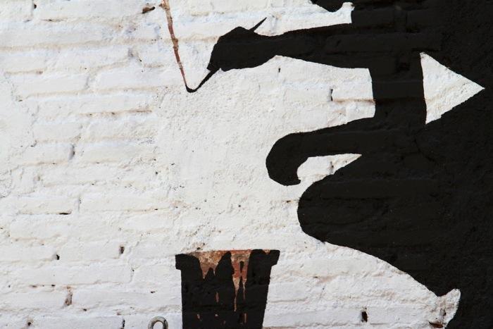 25560626 174400 ภาพวาดจากลอยแตกบนกำแพง..Subtractive Street Art โดย Pejac
