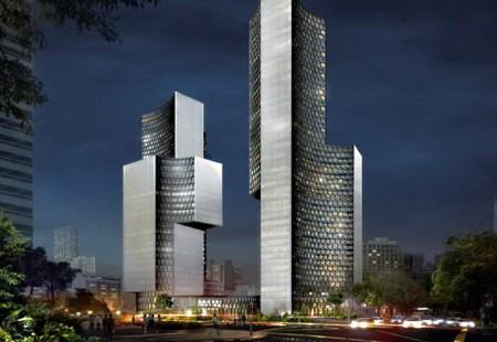 DUO05 450x310 Twin Towers Duo  in Singapore ตึกแฝดด้วยรูปทรงที่เว้าแหว่ง ประเทศสิงคโปร์