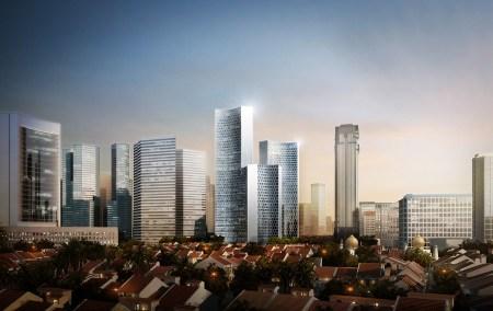 duo towers singapore o141112 b5 450x284 Twin Towers Duo  in Singapore ตึกแฝดด้วยรูปทรงที่เว้าแหว่ง ประเทศสิงคโปร์