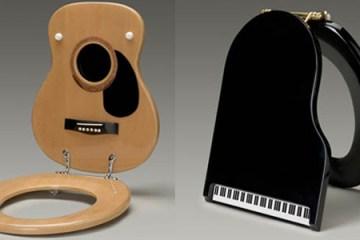 Jammin' Johns Toilet Seats ดนตรีกับดีไซน์ฝารองนั่งและฝาปิดชักโครก