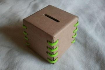 DIY กระปุกใส่เหรียญ ใส่เงิน รีไซเคิลจากกระดาษกล่อง 28 - cardboard