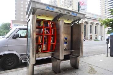 เปลี่ยนตู้โทรศัพท์สาธารณะในนิวยอร์ค เป็นห้องสมุดขนาดเล็ก เพื่อส่งเสริมการเรียนรู้ของคนในชุมชน 19 - Library